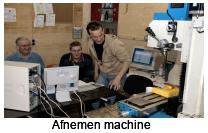 Afnemen v/d machine
